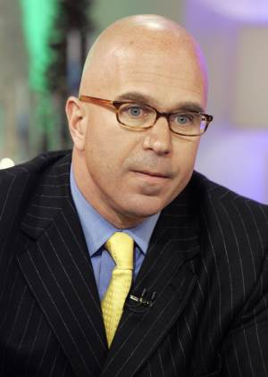 """FILE - In this Dec. 6, 2007 file photo, radio talk-show host Michael Smerconish appears on the NBC """"Today"""" television show in New York. Smerconish is jumping from traditional talk radio to satellite, saying the media form he has loved essentially left him. The Philadelphia-based host said Wednesday he will move his three-hour program to SiriusXM on April 15, airing weekdays at 9 a.m. ET with a repeat at 6 p.m. ET. (AP Photo/Richard Drew, File)"""