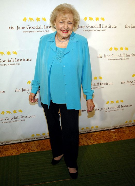 Betty White attends the Third Annual Jane Goodall Global Leadership Awards at The Beverly Wilshire Hotel on October 30, 2009 in Beverly Hills, California.