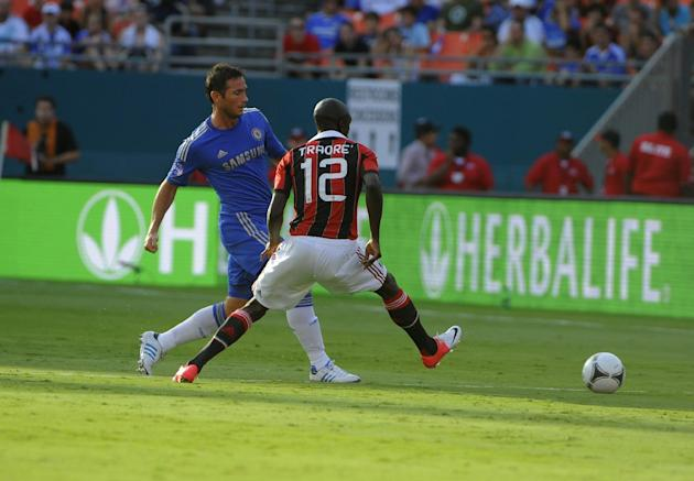 Chelsea FC and A.C. Milan face off at the Herbalife World Football Challenge, Saturday, July 28, 2012, at Sun Life Stadium in Miami. (Brian Blanco / AP Images for Herbalife)