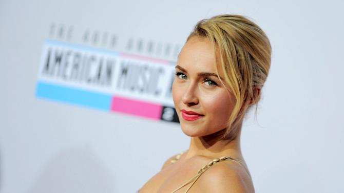"FILE - This Nov. 18, 2012 file photo shows actress Hayden Panettiere, star of the ABC series ""Nashville"" at the 40th Anniversary American Music Awards in Los Angeles. Panettiere was nominated for best supporting actress in a series for television for her role on ""Nashville."" The 70th annual Golden Globe Awards will be held on Jan. 13. (Photo by Jordan Strauss/Invision/AP, file)"
