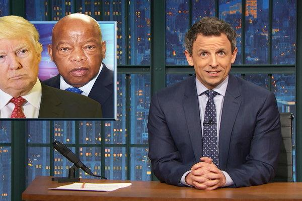 Seth Meyers takes down Trump over John Lewis comments