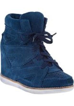 Jeffrey Campbell Navy Suede