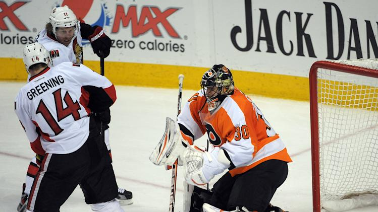 NHL: Ottawa Senators at Philadelphia Flyers