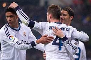 Real Madrid 2-0 Rayo Vallecano: Ramos scores and sees red as Blancos record victory