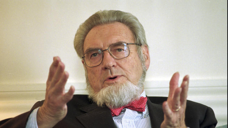 FILE - In this May 12, 1997 file photo, former Surgeon General Dr. C. Everett Koop discusses the proposed increase of the New Hampshire cigarette tax at the governor's office in the Statehouse in Concord, H.H.  Koop, who raised the profile of the surgeon general by riveting America's attention on the then-emerging disease known as AIDS and by railing against smoking, died Monday, Feb. 25, 2013, in Hanover, N.H.  He was 96. (AP Photo/Andrew Sullivan, File)