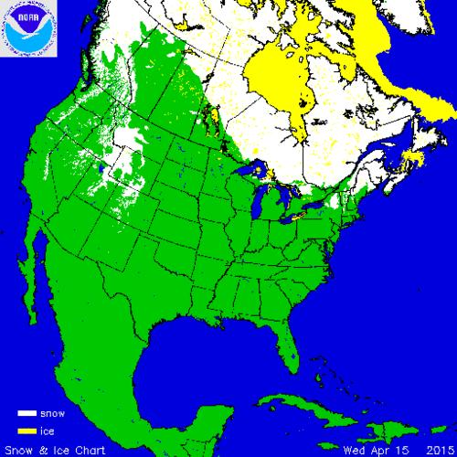 Cool Map Thing: Here's Where There's Still Snow Across North America