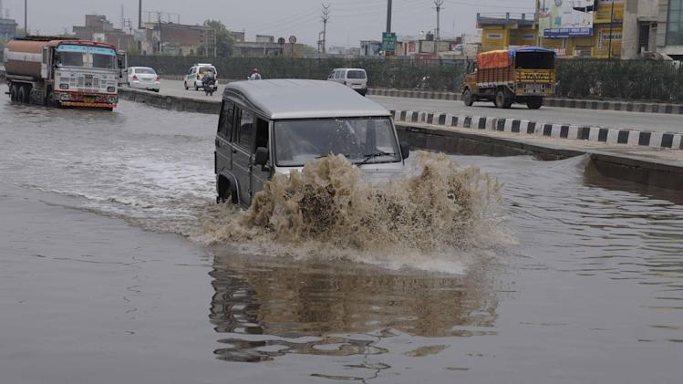 Water Logging On Roads After Heavy Rains In Delhi-NCR