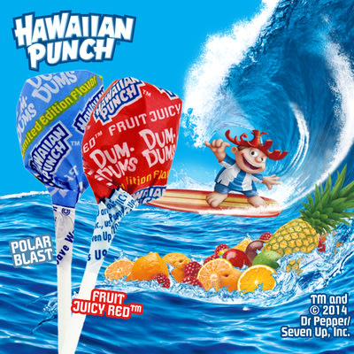 Dum Dums is splashing into summer with two limited edition flavors from Hawaiian Punch. Hawaiian Punch's iconic Fruit Juicy Red™ flavor and Polar ...