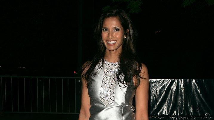 Padma Lakshmi arrives at the 7th Annual Tribeca Film Festival - Vanity Fair Party at  the State Supreme Courthouse on April 22, 2008 in New York City, New York.