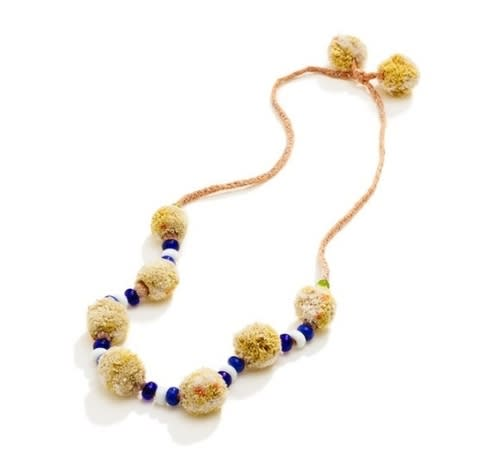 Pom Pom party necklace, $45, at Madewell