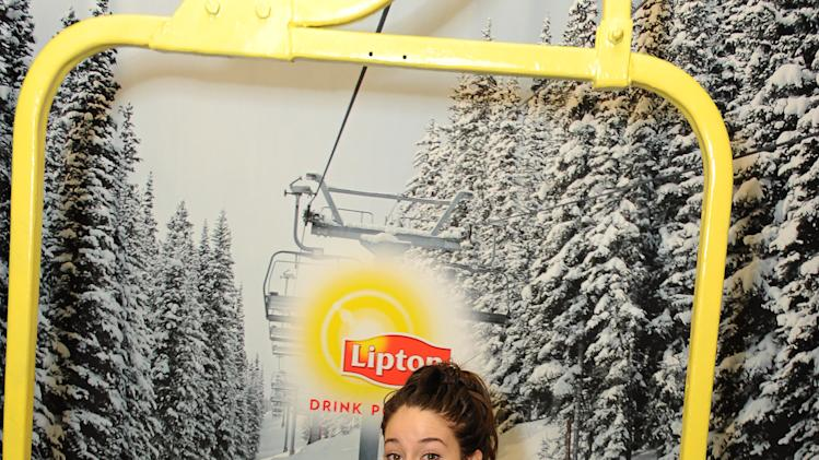 IMAGE DISTRIBUTED FOR LIPTON: Actress Shailene Woodley hangs loose at the Lipton Uplift Lounge, taking a break from the Sundance action on Saturday Jan. 19, 2013, in Park City, UT (Photo by Jordan Strauss/Invision for Lipton/AP Images)