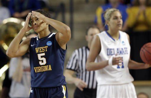 Delaware women defeat West Virginia 66-53 in NCAAs