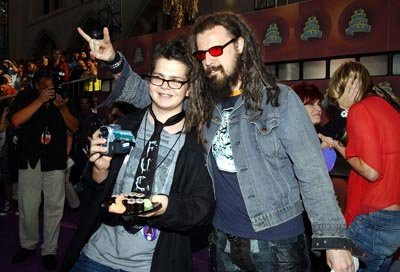 Jack Osbourne and Rob Zombie MTV Movie Awards 6/1/2002
