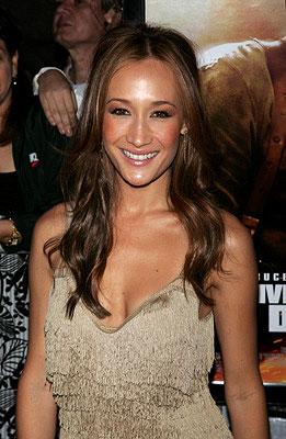 Maggie Q at the New York premiere of 20th Century Fox's Live Free or Die Hard