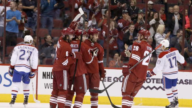 Coyotes rebound for 5-2 win over Habs
