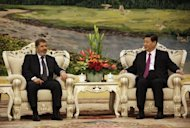 Chinese Vice-President Xi Jinping (right) with Egypt&#39;s President Mohamed Morsi in the Great Hall of the People in Beijing on August 29. China&#39;s foreign ministry on Wednesday again refused to answer any questions about Xi Jinping, as concerns about the health of the country&#39;s likely next leader mounted