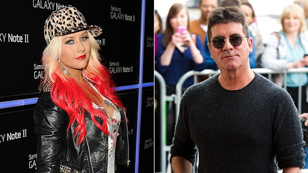 Christina Aguilera Calls Simon Cowell a D***