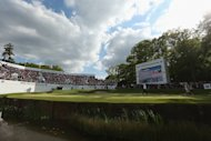 VIRGINIA WATER, ENGLAND - MAY 25:  Marc Warren of Scotland walks onto the 18th green during the third round of the BMW PGA Championship on the West Course at Wentworth on May 25, 2013 in Virginia Water, England.  (Photo by Warren Little/Getty Images)