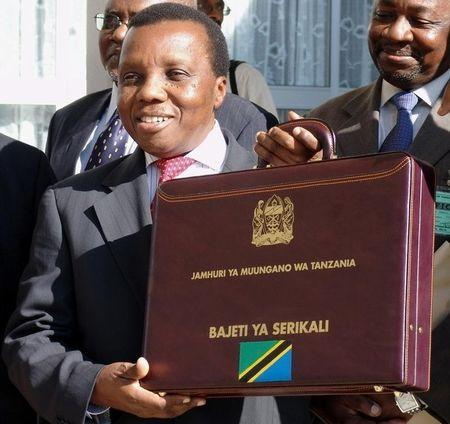 TANZANIAN FINANCE MINISTER MRAMBA HOLDS BRIEFCASE CONTAINING ANNUAL BUDGET IN DODOMA.