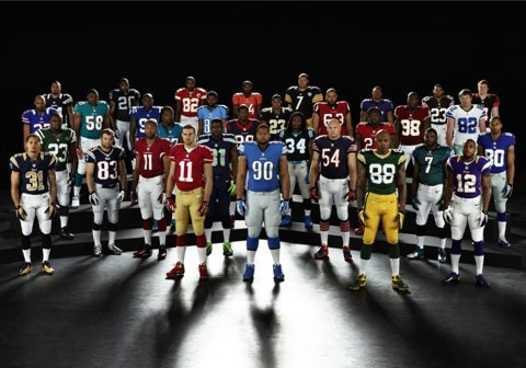 Nike and NFL Unveil New 2012 Uniforms with 32 NFL Athletes