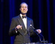 Prince William speaks at the Royal Albert Hall for a British Olympic Team GB gala event in London, Friday, May 11, 2012. (AP Photo/Alastair Grant, Pool)