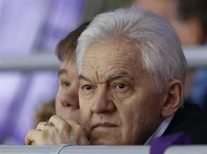 Russian businessman Gennady Timchenko attends the men's qualification ice hockey game between Russia and Norway at the Sochi 2014 Winter Olympic Games