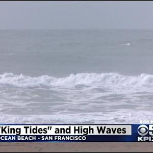 King Tides Bring Pounding Waves To Ocean Beach
