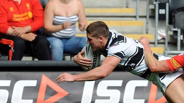 Tom Lineham continued his fine season with one of Hull's tries against Catalan