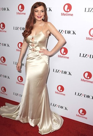 Lindsay Lohan arrives at the &#39;Liz & Dick&#39; Los Angeles premiere at Beverly Hills Hotel in Beverly Hills, Calif. on November 20, 2012  -- Getty Premium