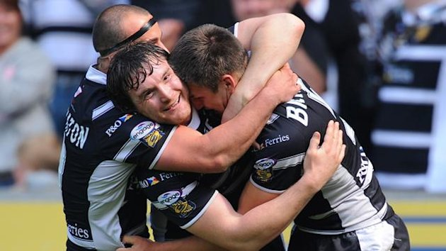 Hull FC's Danny Houghton, Martin Gleeson and Tom Briscoe