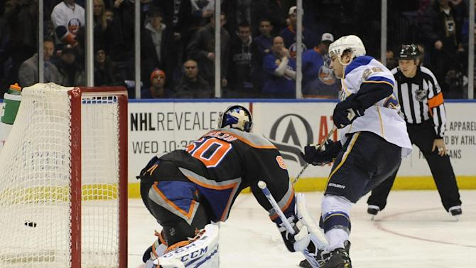 Blues beats NY in shootout after OT goal waved off