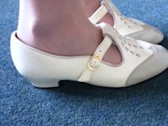 White vintage shoes.