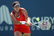 Taipei's Chan Yung-Jan during the Mercury Insurance Open match against Britain's Heather Watson on July 18. Chan will face a Friday test against either fourth seed Jelena Jankovic or Hungarian Melinda Czink
