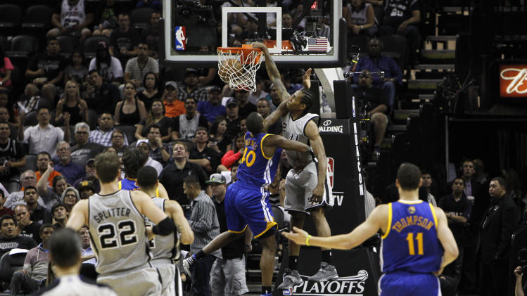 NBA: Playoffs-Golden State Warriors at San Antonio Spurs