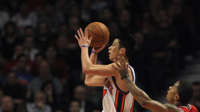 Jeremy Lin #17 Of The New York Knicks Drives Getty Images