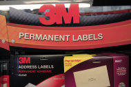 <p>               FILE - In this April 25, 2012 file photo, 3M's address labels are displayed for sale at Office Depot in Mountain View, Calif. 3M is raising its earnings expectations for the year Thursday, Jan. 26, 2012, saying higher sales around the globe will offset the disruption to its business in Japan from the earthquake there.  (AP Photo/Paul Sakuma)