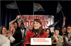 Christine O'Donnell takes the podium after clinching the Delaware Republican nomination.