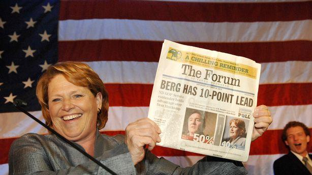 Heidi Heitkamp's Win Gives Democrats 55-45 Control in the Senate