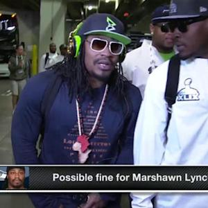 Will Seattle Seahawks running back Marshawn Lynch be fined because of his hat?