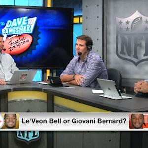 DDFP TV: Pittsburgh Steelers running back Le'Veon Bell or Cincinnati Bengals running back Giovani Bernard?