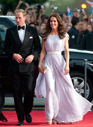 Middleton wearing McQueen