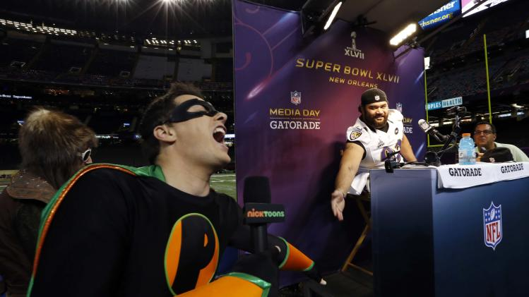 NFL: Super Bowl XLVII-Baltimore Ravens Media Day