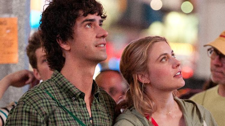 "This undated film image released by Fox Searchlight shows Hamish Linklater, left, and Greta Gerwig in a scene from ""Lola Versus."" (AP Photo/Fox Searchlight, Myles Aronowitz)"