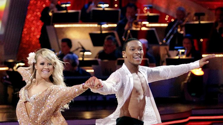 "Romeo and Chelsie Hightower perform on ""Dancing with the Stars."""