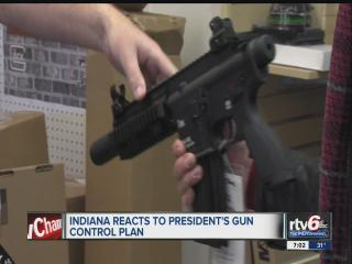 Indiana reacts to President Obama's gun control plan
