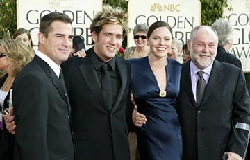 George Eads, Eric Szmanda, Jorja Fox, Robert David Hall Golden Globes - 1/25/2004