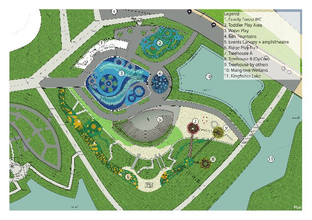 Far East Organization Children&#39;s Garden layout map (Photo courtesy of Gardens by the Bay)