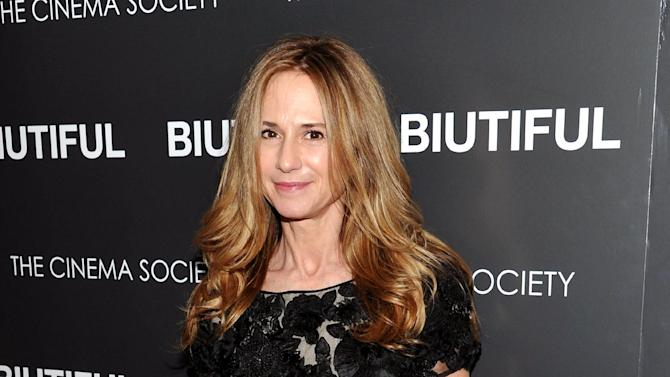 "FILE - This Dec. 1, 2010 file photo shows actress Holly Hunter at a special screening of ""Biutiful"" hosted by The Cinema Society at The Lighthouse Theater in New York.  The Flea Theatre said Friday, Nov. 9, 2012, the actress will star in ""The Vandal"" from Jan. 18-Feb. 17. (AP Photo/Evan Agostini, file)"