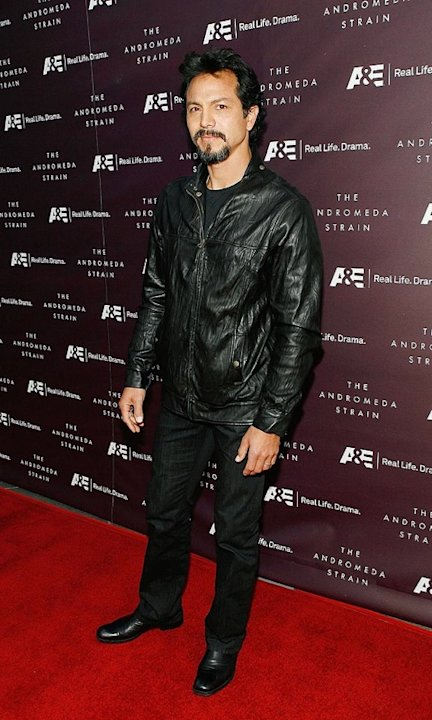 "Actor Benjamin Bratt attends the premiere of A&E's high-definition screening of the classic science-fiction film ""The Andromeda Strain"" at the Directors Guild of America Theatre May 7, 2008 in Los Ang"
