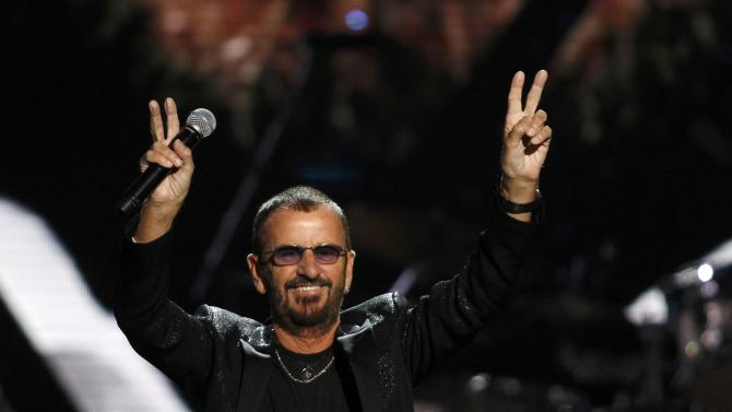 Ringo Starr performs during the 2015 Rock and Roll Hall of Fame Induction Ceremony in Cleveland